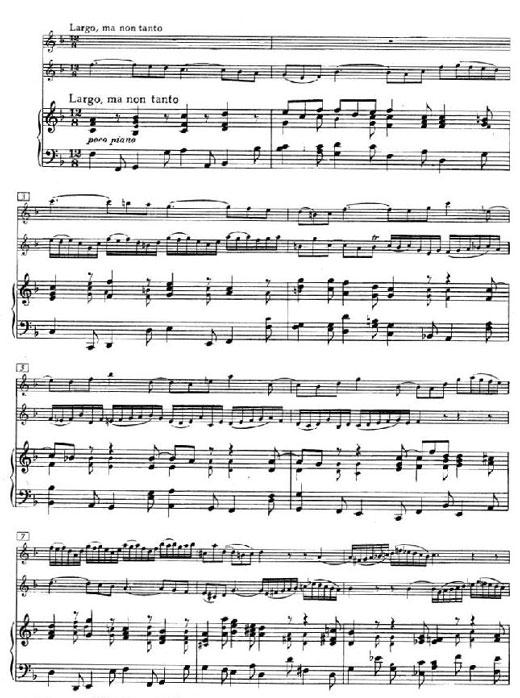 巴哈双小提琴协奏曲第二乐章乐谱1