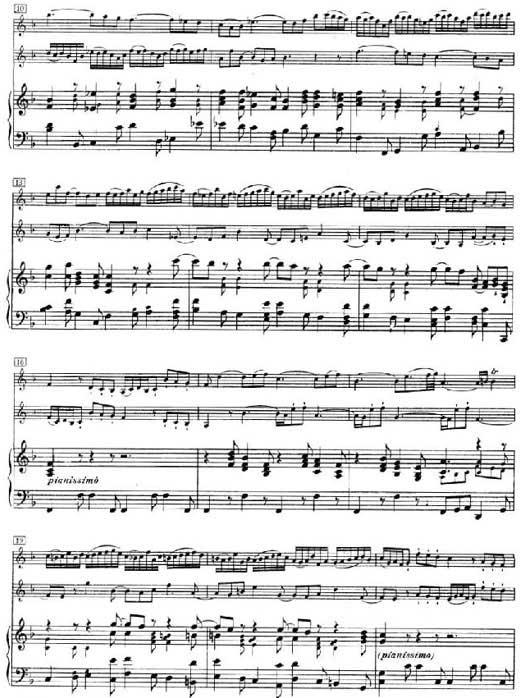 巴哈双小提琴协奏曲第二乐章乐谱2