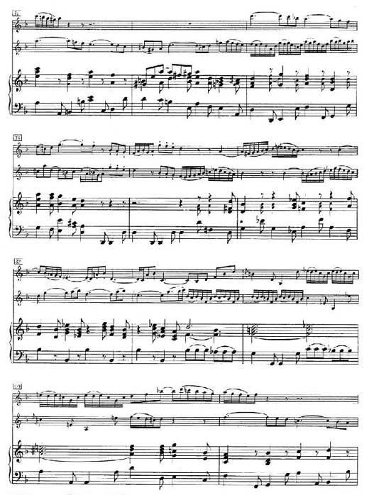 巴哈双小提琴协奏曲第二乐章乐谱4