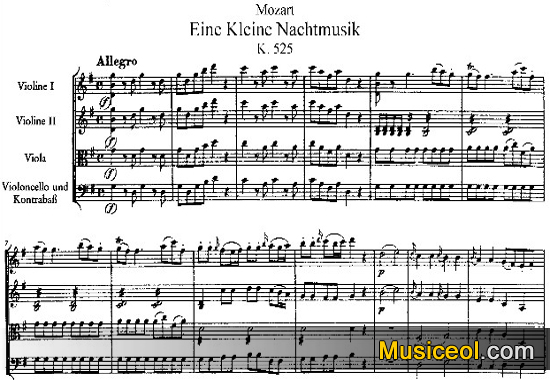莫扎特 G大调弦乐小夜曲