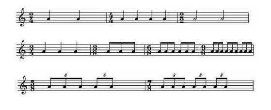 音符拍号矢量图