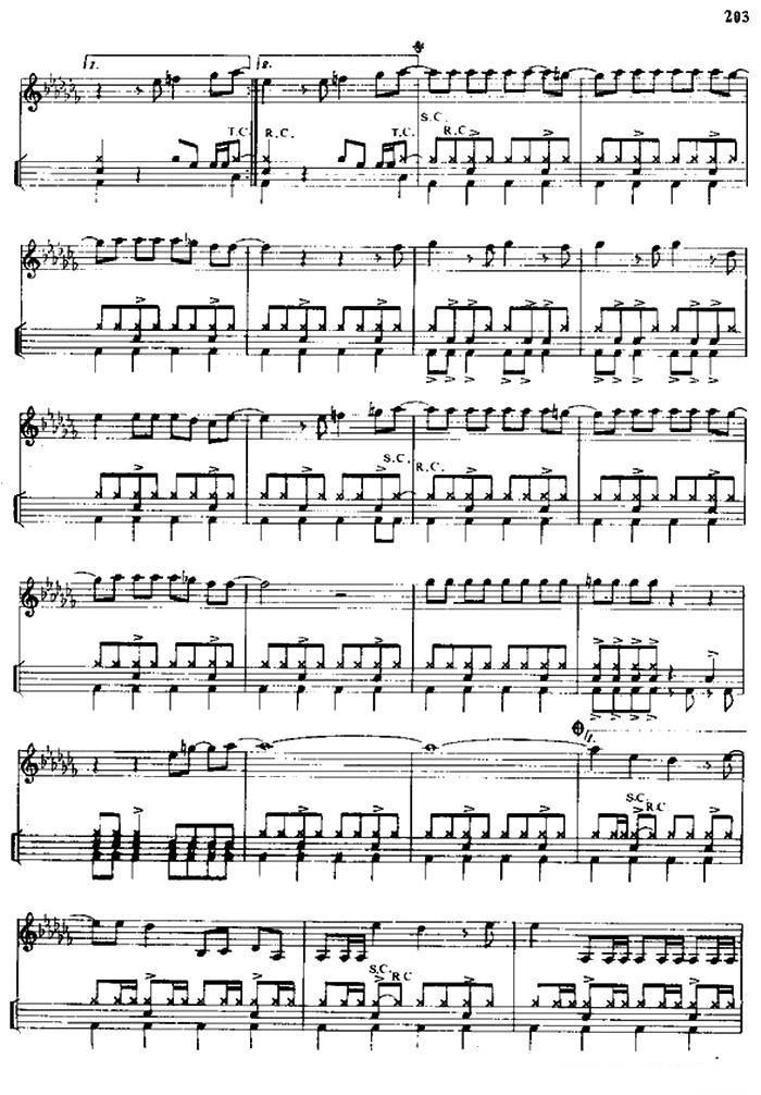 爵士鼓曲谱:《暴风女神》