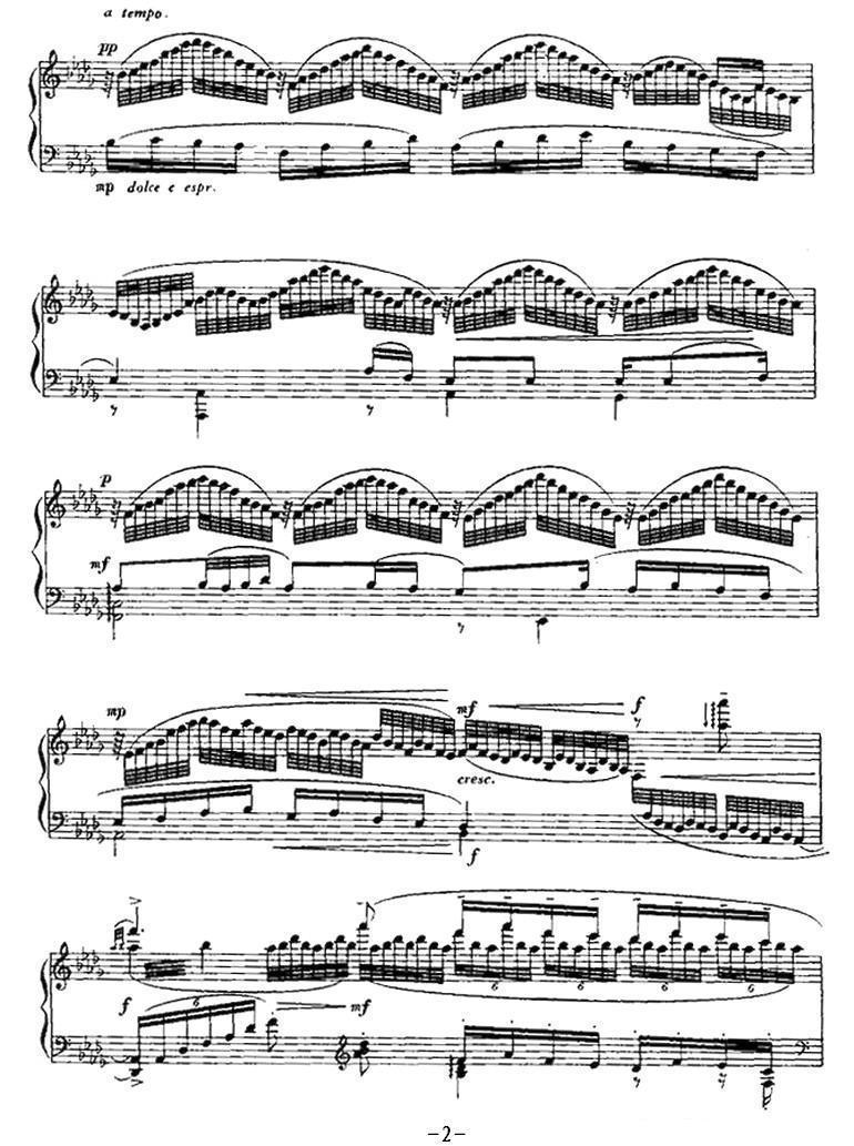 钢琴曲谱:《平湖秋月》