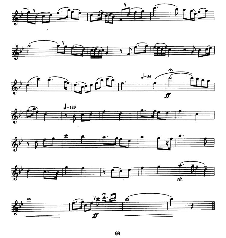 萨克斯曲谱:《北京颂歌》