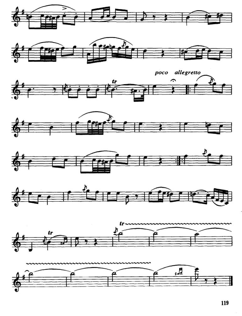小号曲谱:《夜 莺》