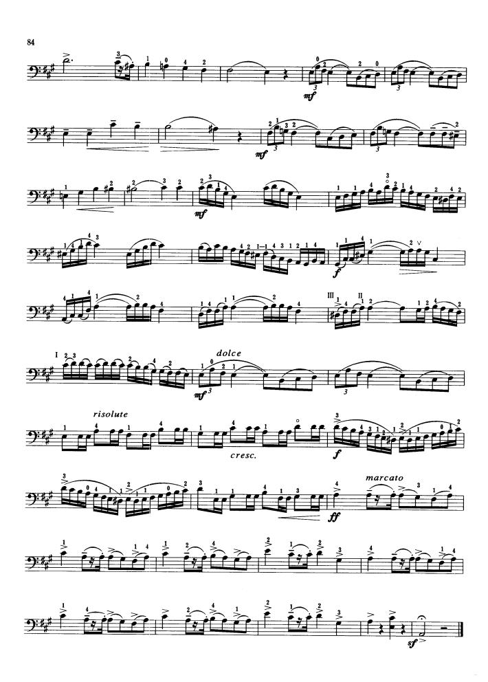 大提琴曲谱 古柏 小协奏曲