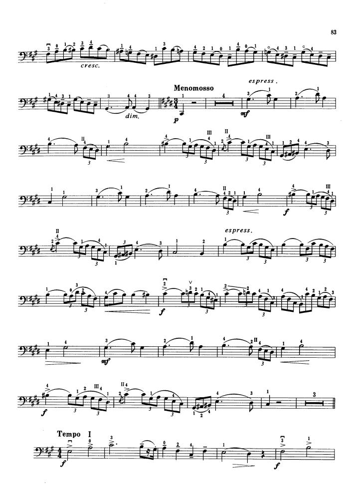 大提琴曲谱:古柏《小协奏曲》