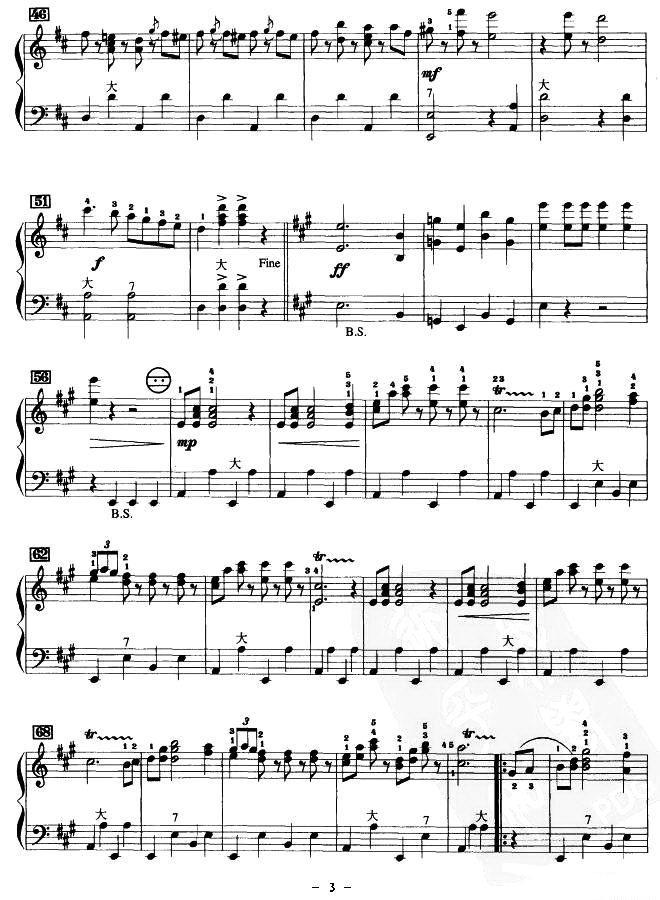 手风琴曲谱 拉德斯基进行曲