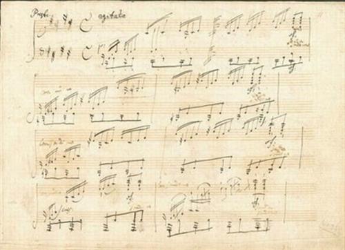 贝多芬 月光奏鸣曲 手稿