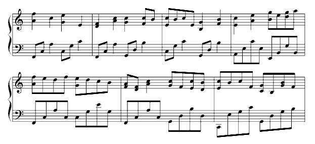 帕基塔妈妈 乐谱-推荐   钢琴曲谱:帕赫贝尔-Pachelbel 卡农—情感100%