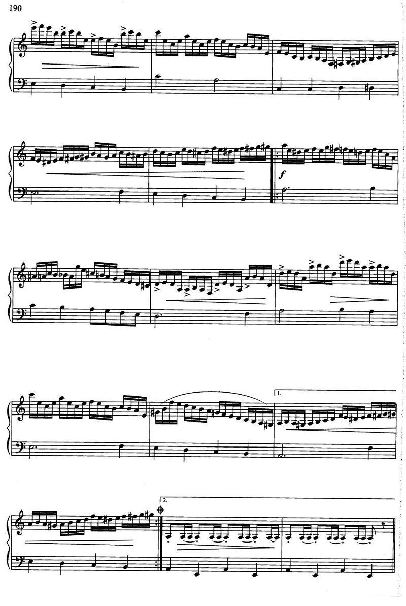 手风琴曲谱:俄罗斯民歌《三套车》