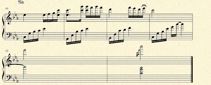 石进>>夜的钢琴曲五_乐谱推荐图片