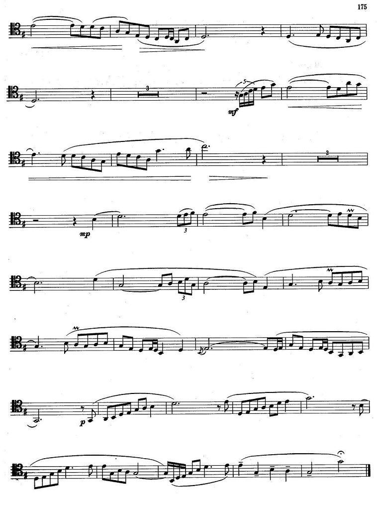 长号曲谱:《牧歌》
