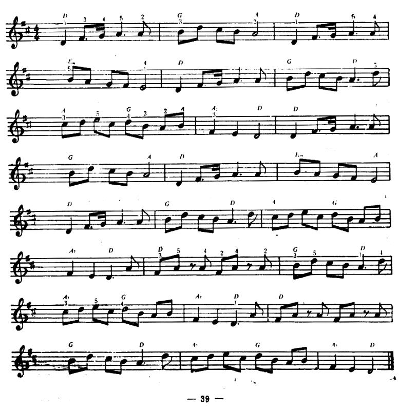 电子琴曲谱:《老黑奴》