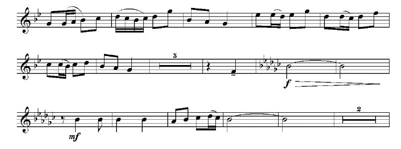 67小号曲谱:《快乐的年轻人》