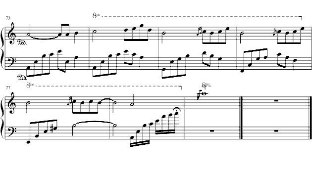 名家曲谱 石进 夜的钢琴曲六