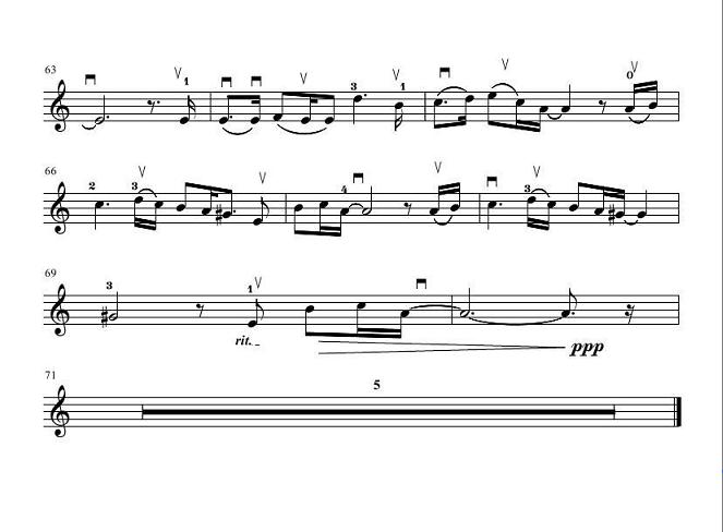 小提琴谱:深秋的黎明_乐谱推荐_中音在线