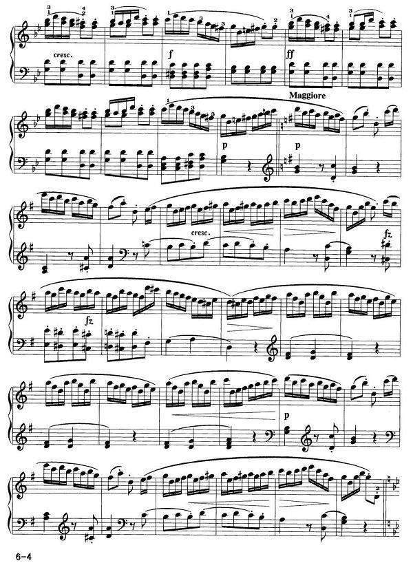 钢琴曲谱 海顿 吉普赛回旋曲