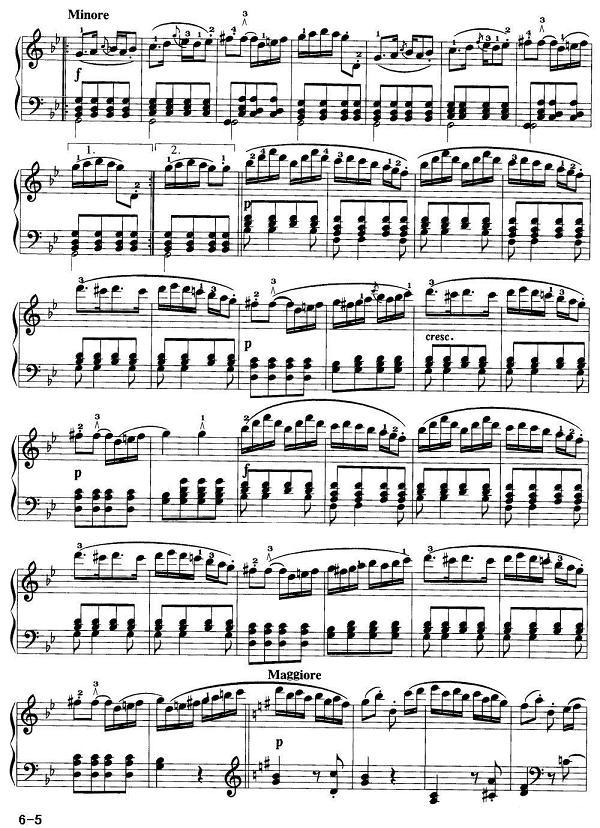 钢琴曲谱:海顿- 吉普赛回旋曲
