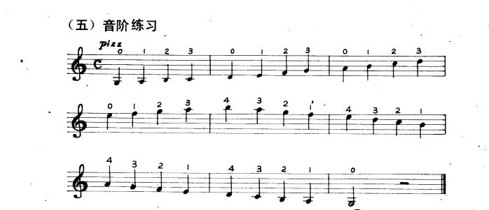 小提琴乐谱 拨弦指法练习曲