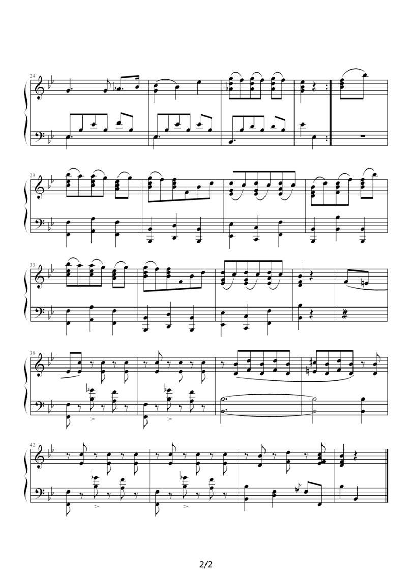 钢琴曲谱 最后的乐思