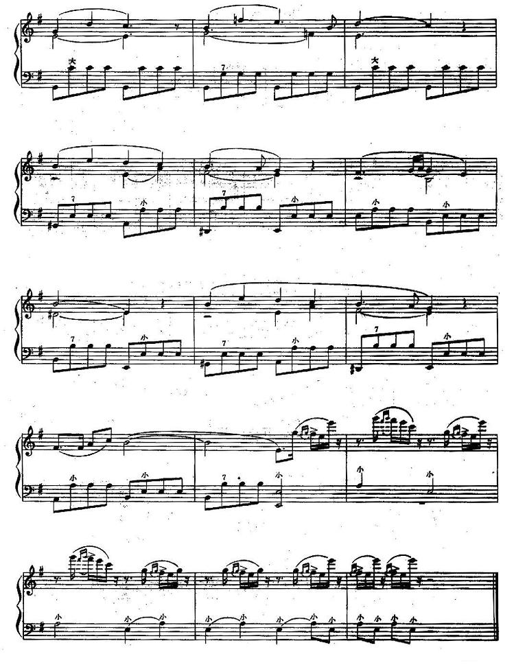 手风琴曲谱:《云雀》(格林卡曲)