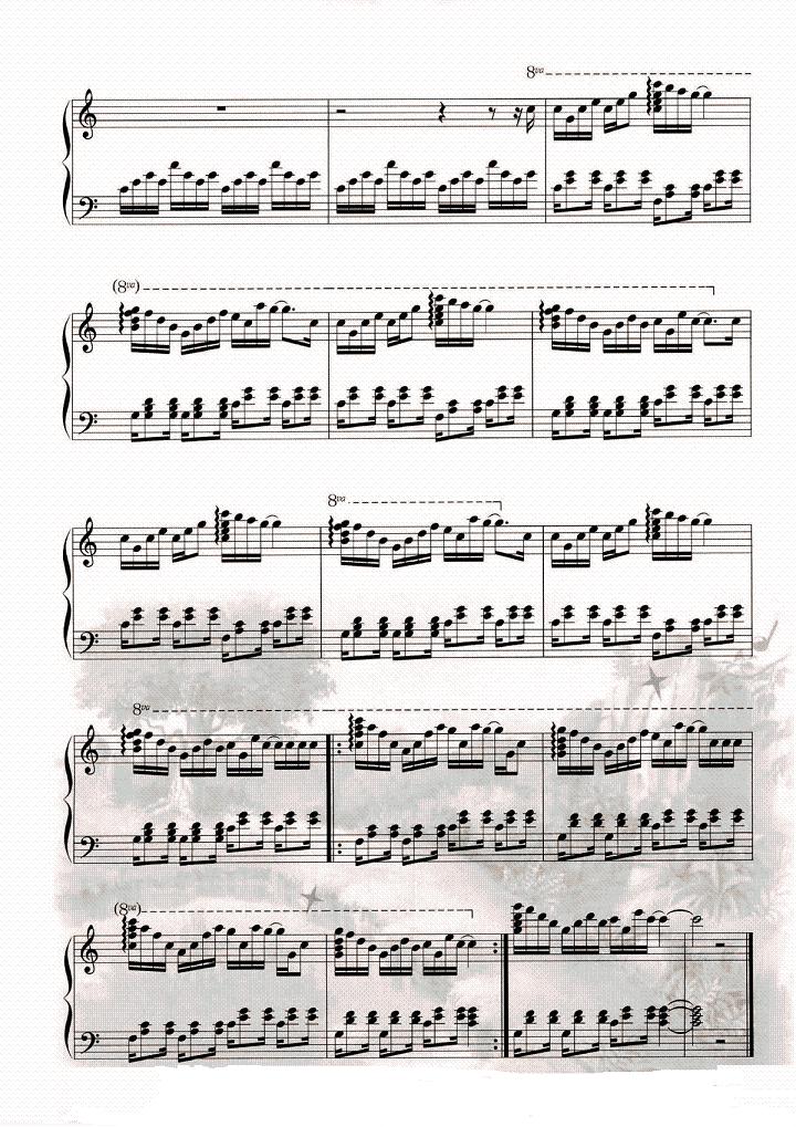 钢琴曲谱 音乐盒舞者