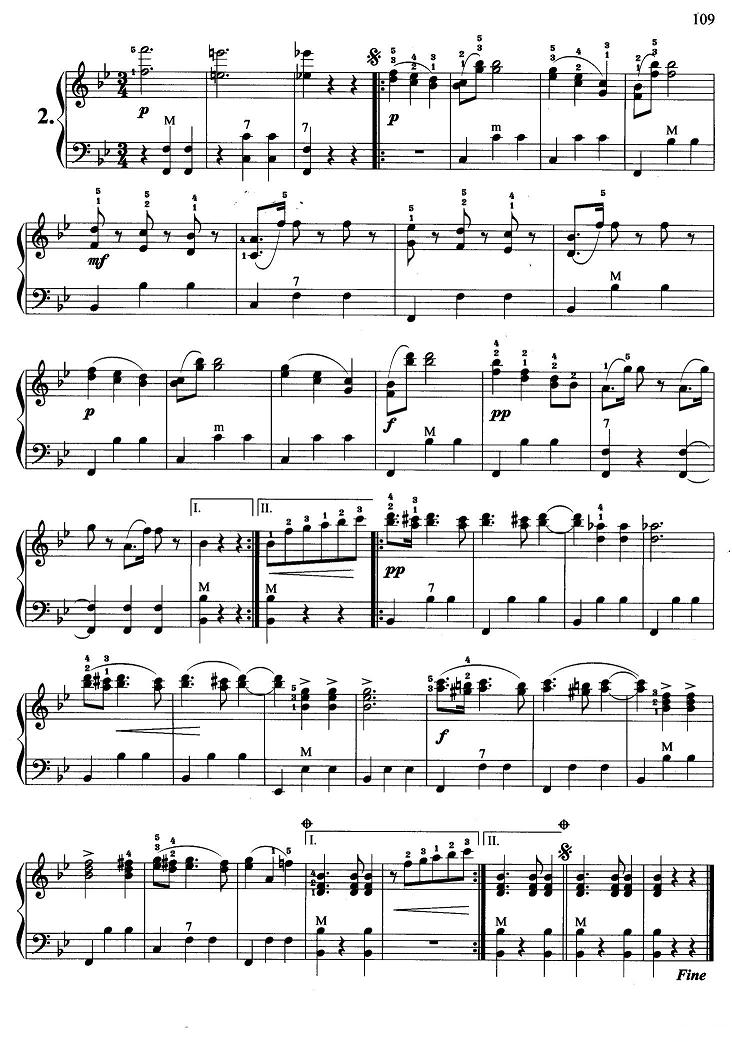 手风琴曲谱 维也纳森林的故事