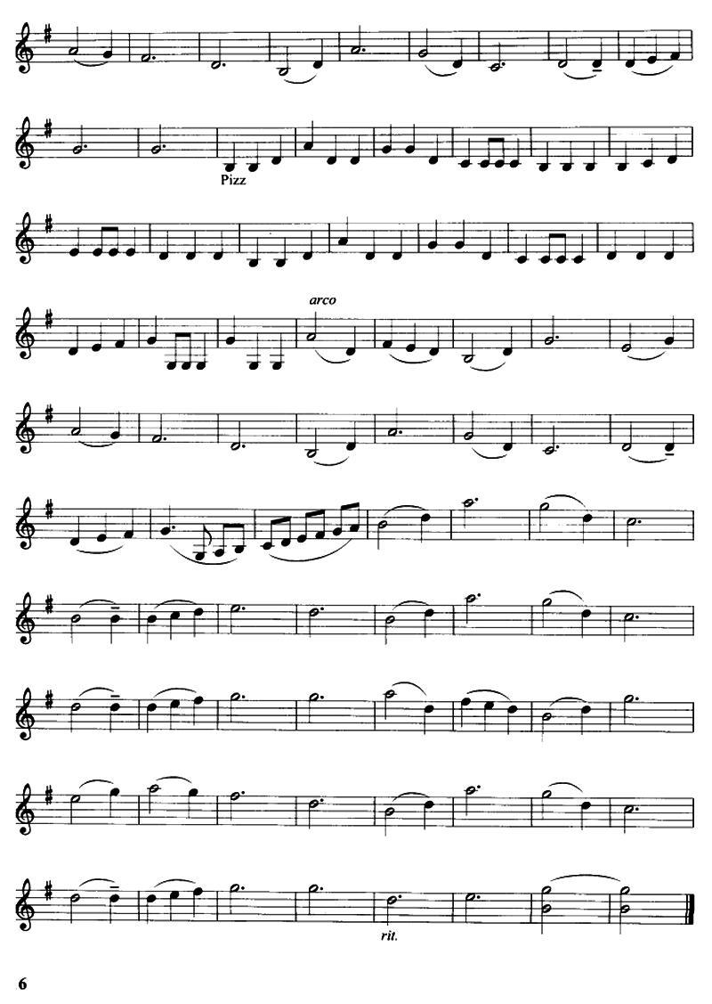 小提琴曲谱 雪绒花