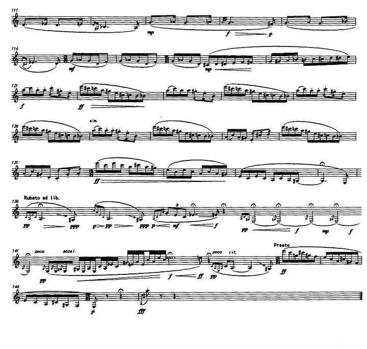 单簧管曲谱:单簧管独奏《独白》