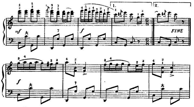 手风琴曲谱:手风琴世界名曲《跳豆》