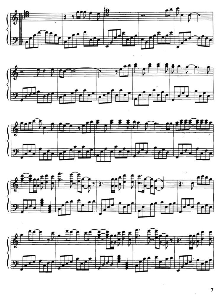 钢琴曲谱:《心如刀割》